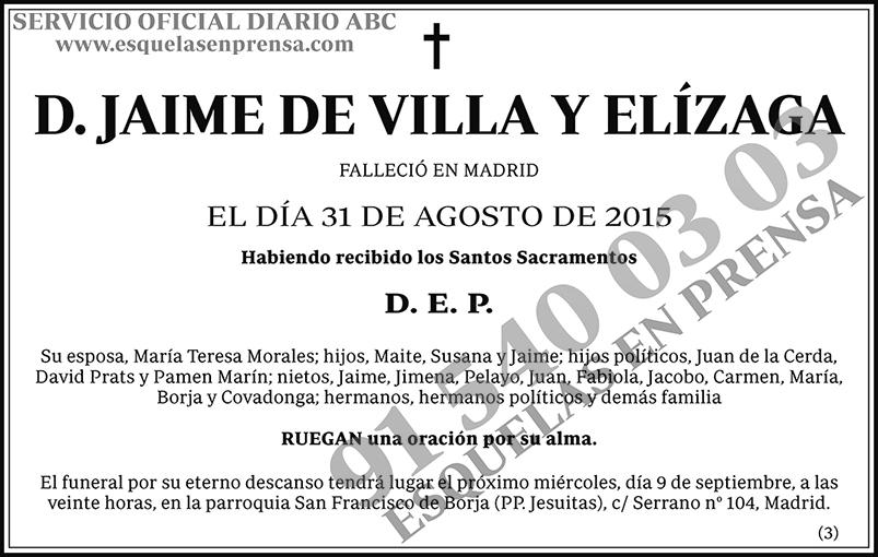 Jaime de Villa y Elízaga